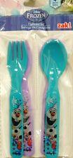 NEW! ! Disney Frozen olaf Flatware Plastic  spoon and fork  set 4pcs