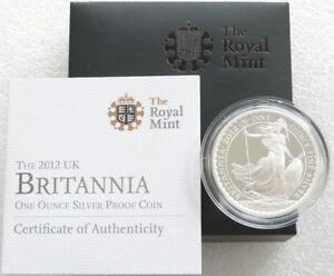 2012 Royal Mint Britannia £2 Two Pound Silver Proof 1oz Coin Box Coa