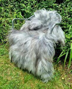XXXXL Huge Mixed Grey Icelandic Sheepskin Rug - 140cm by 90cm A+++ (1607)
