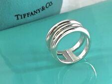 Tiffany & Co. 925 Silver Zig Zag Spiral Wide Bang Ring Sz 7.25 / 9.9gr 181011D