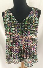 Liz Claiborne Colorful With Attached Cami Tunic Top - Size Petite Small