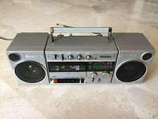 Vintage SANYO M-V40K radio cassette recorder boombox, 1984