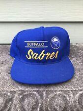 Vintage 90s NHL Buffalo Sabres Logo Snapback American Needle NWT