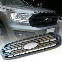 FRONT GENUINE GRILL GRILLE MATTE MATT BLACK FIT FOR FORD EVEREST SUV 2015 16 17