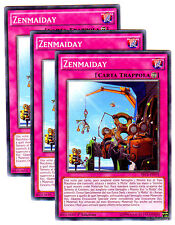 Set 3X ZENMAIDAY SECE-IT075 Comune in Italiano YUGIOH