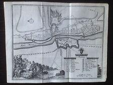 Dinant plan de ville 18e siècle
