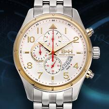 Brandt & Hoffman Swiss Chronograph Sagan Mens Watch / MSRP $1,899.00 (2 Styles)