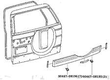 Toyota Prado 90 95 Tailgate Garnish Genuine Trim Body Mould Flare Panel Clips
