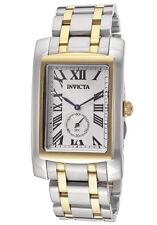 New Mens Invicta 14698 Cuadro Two Tone Steel Bracelet Watch