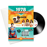 1978 BIRTHDAY or ANNIVERSARY GIFT - 1978 Retro CD Booklet Gifts Greeting Card