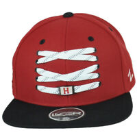 NCAA Zephyr Harvard Crimson Flat Bill Two Tone Snapback Adjustable Lacer Hat Cap