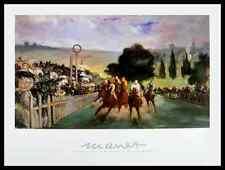 Edouard Manet course de Vercors a longchamp póster son impresiones artísticas y marco 60x80cm