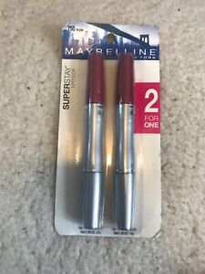 Pack Of 2 Maybelline Superstay Lipcolor - Plum 755