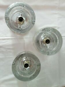 Wila 3 Wandlampen Eisglas Runde Lampen Wandlampe