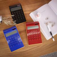 Desktop Calculator 10 Digits Ultra Thin LCD Display Solar Energy Home Business