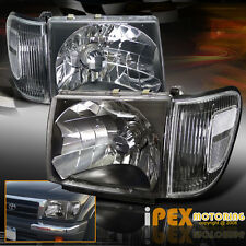 New 1998-2000 Toyota Tacoma 4X4 4WD Black Headlights + Black Corner Signal Light