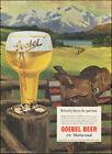 1951 Vintage ad for Goebel Beer`Art Glass Saddle Mountains Fence  (122717)