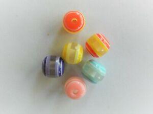 Plastic, Mixed Colour Rondelles 8mm x 9mm Approx