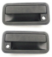 NEW Front Outside Door Handle Pair Set Black Fits 95 - 98 Chevrolet GMC Truck