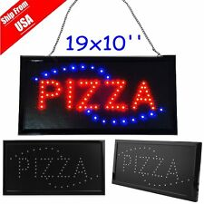 Animated Motion Led Restaurant Bbqclub Pizza Sign On/Off Switch Open Light NeonB