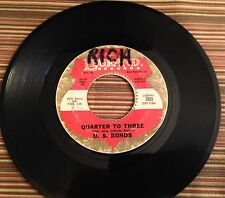 "U. S. BONDS 45rpm/7"" Quarter to Three/Time Ole Story (Legrand Rec. 1008, 1961"