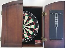 Unicorn Eclipse Pro 2 Dart Board & Timber Cherry Wood Dart Cabinet 6 X Darts