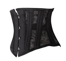 Short hollow breathable corset Waist Trainer cincher Body Shaper 24 Steel bones