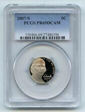 2007 S 5C Jefferson Nickel PCGS PR69DCAM