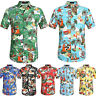 Men's Aloha Stag Party Beach Summer Holiday Casual Hawaiian Fancy Top Tee Shirt
