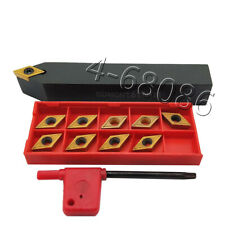 Lathe Turning Tool Holder SDNCN1616H11 16x100mm +10PC DCMT11T304 Carbide insert