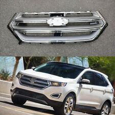 1Pcs Chrome Front Upper Grill Grille For Ford Edge 2.7T 2015-2016