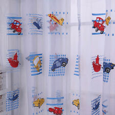 Cartoon Voile Blackout Curtains for Kids Room Window Curtains Tulle Sheer XC