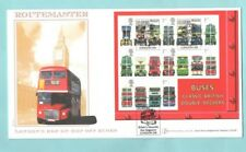 Buckingham First Day Cover Cover BC007B London Buses Miniature Sheet