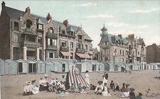 """WIMEREUX 1680 coin de plage pub verso magasin chaussures """"au sans pareil"""" écrite"""