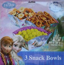 Party Snack Bowls DISNEY FROZEN Treats Birthday Supplies 3 pack