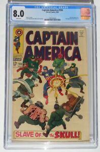 Captain America #104 Red Skull Marvel Comics Aug. 1968 Lee Kirby CGC Graded 8.0