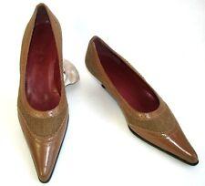 UNISA Zapatos puntas puntiagudos cuero y tercipelo camel 37 COMO NUEVO