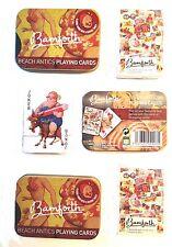 3 x sets PLAYING CARDS + Gift Tin Bamforth Saucy Postcard Seaside Nostalgic Game