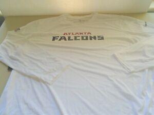 New Nike Atlanta Falcons Long Sleeve White Dri Fit T Shirt sz 4XL
