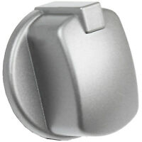 Silver Inox Control Knob Switch Gauge for Indesit Oven Cooker Hob x 2
