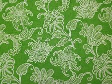 "RICHLOOM ELLIE CITRUS GREEN WHITE FLORAL OUTDOOR INDOOR FABRIC BY THE YARD 54""W"