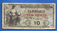 Us Military Payment Certificate   Mpc Series 481 - 10 Cents C-135