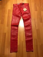 """AG Adriano Goldschmied """"The Legging"""" Super Skinny Faux Leather Pants Size 25R"""