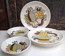 Biltons Staffordshire Vintage 1970s Piastre & piatti con decorazione vegetale GR