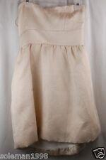 Aqua Ivory/Gold Strapless Cocktail/Formal Dress Size 6 MSRP $168