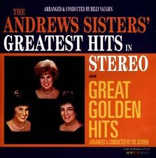 ANDREWS SISTERS Greatest Hits In Stereo / Great Golden Hits CD Sepia UK 2013