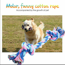 Chew Toy Knot Fun Tough Strong Puppy Dog Pets Tug War Play Cotton Toys Rope UK