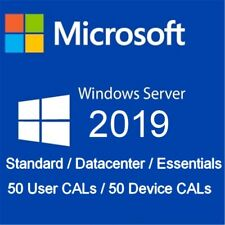🗝Windows Server 2019 STD/DATA/ESS -Option 50 user CALs / device CALs RDS