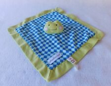 Baby Ganz Wheatberries Frog Security Blanket Lovey Plush Blue Green