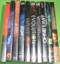 10 Stk. DVD Sammlung / Konvolut (Ohne Limit, Evolution, Halloween I + II,...)